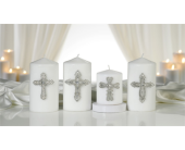 Glass & Zinc Alloy Cross Design Candle Pin in Toledo, Ohio, Myrtle Flowers & Gifts