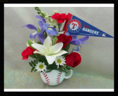 Texas Rangers Fan Bouquet in Tyler TX, The Flower Box