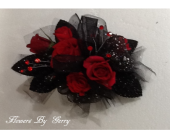 Black Knight wristlet in Brentwood CA, Flowers By Gerry
