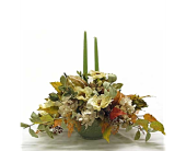 Sage and Gourds Centerpiece in Amherst NY, The Trillium's Courtyard Florist