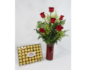 Expression of Love with Chocolates in Houston TX, Ace Flowers