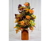 Autumn Embers in Pendleton IN, The Flower Cart