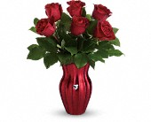 Teleflora's Heart Of A Rose Bouquet in Sun City CA, Sun City Florist & Gifts