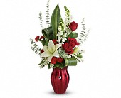Teleflora's Hearts Aflutter Bouquet in Bradenton FL, Tropical Interiors Florist