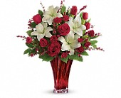 Love's Passion Bouquet by Teleflora in Elkland PA, The Rainbow Rose