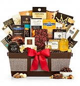 Fit for Royalty Gourmet Basket - by GiftTree Flowers