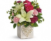 Teleflora's Love To Love You Bouquet in Monroe MI, North Monroe Floral Boutique