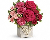 Teleflora's Swirling Heart Bouquet in Rocky Mount NC, Flowers and Gifts of Rocky Mount Inc.