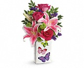 Mt Vernon Flowers - Teleflora's Brilliant Butterflies Bouquet - Flowers By Candlelight