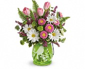 Teleflora's Songs Of Spring Bouquet in Fairfield CA, Flower Basket
