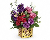 Teleflora's Thrilled For You Bouquet in Bradenton FL, Tropical Interiors Florist