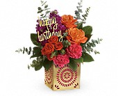 Crystal Lake Flowers - Teleflora's Birthday Sparkle Bouquet - Locker's Flowers, Greenhouse & Gifts