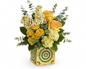 Teleflora's Shimmer Of Thanks Bouquet in Rush NY, Chase's Greenhouse