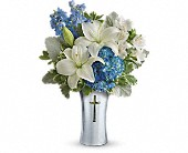 Teleflora's Skies Of Remembrance Bouquet in Edgewater, Florida, Bj's Flowers & Plants, Inc.