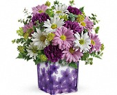 Teleflora's Dancing Violets Bouquet in Beloit KS, Wheat Fields Floral