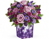 Teleflora's Happy Violets Bouquet in Watertown NY, Sherwood Florist