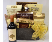 Wine and Chocolates Gourmet Basket  in Norwalk CT, Bruce's Flowers & Greenhouses