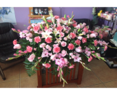 Pink Casket Piece in Winterspring, Orlando, Florida, Oviedo Beautiful Flowers