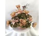 Peach Silk in Ceramic in Charleston IL, Noble Flower Shop