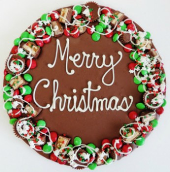 Merry Christmas Chocolate Pizza in Perrysburg & Toledo OH - Ann Arbor MI OH, Ken's Flower Shops
