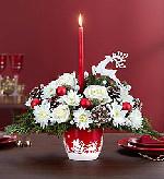Austin Flowers - Santa's Sleigh Centerpiece - Heart & Home Flowers