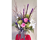 Festive Holiday Vase in Redmond WA, Bear Creek Florist