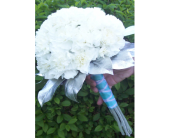 Contemporary Silver and blue Bouquet in Fairview, Pennsylvania, Naturally Yours Designs