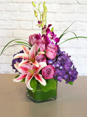 Purples in Paris in Raleigh NC, Johnson-Paschal Floral Company