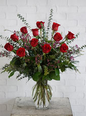 One Dozen Ultimate Red Roses in Raleigh NC, Johnson-Paschal Floral Company