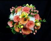 Orange Bride in Westfield, Indiana, Union Street Flowers & Gifts