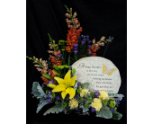 Stepping Stone w/ Flowers in Westfield IN, Union Street Flowers & Gifts