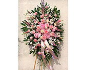 Blissful Pinks Standing Spray in Los Angeles, California, Haru Florist
