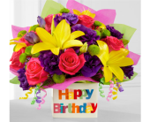 The Happy Birthday by FTD in Chicago IL, Wall's Flower Shop, Inc.