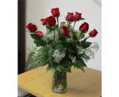 Classic Roses Vased in Bensalem PA, Just Because...Flowers