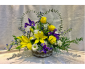 Funeral Heart Basket in Kingston, New York, Flowers by Maria