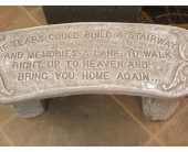 Memory Garden Bench - If tears in Alexandria, Minnesota, Broadway Floral