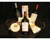 Wine and Cheese basket in Fairfax VA, Rose Florist