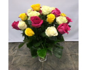 2 Dozen Mixed Roses in Belleville ON, Live, Love and Laugh Flowers, Antiques and Gifts
