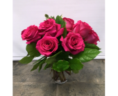 Hot Pink Roses in Belleville ON, Live, Love and Laugh Flowers, Antiques and Gifts