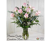 Premium Quality Pink Roses in Pendleton IN, The Flower Cart