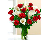 Oklahoma City Flowers - FF105 Calla Magic Roses and Mini Calla Lilies - Array Of Flowers & Gifts