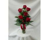 6 Roses Arranged in Charleston IL, Noble Flower Shop