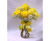Dozen Yellow Roses in Charleston IL, Noble Flower Shop