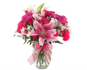 Passionately Pink Vase in Southfield, Michigan, Thrifty Florist