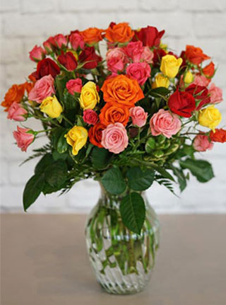 A Spray of Roses in Omaha NE, Stems Florist