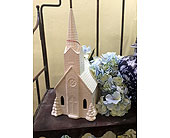 Large Ceramic Musical/Lit Church in Owensboro, Kentucky, Welborn's Floral Company