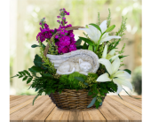 Cuddly Cat Sympathy Basket in Dallas TX, In Bloom Flowers, Gifts and More