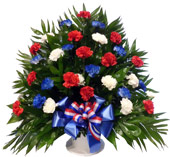 The Patriot Tribute Arrangement in Omaha NE, Stems Omaha