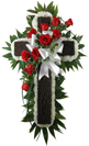 Rustic Memories Rustic Cross with Rose and Carnations in Omaha NE, Stems Omaha