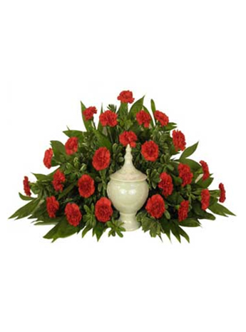 Timeless Traditions Red Carnations Cremation Sett in Arlington Heights IL, Sylvia's - Amlings Flowers